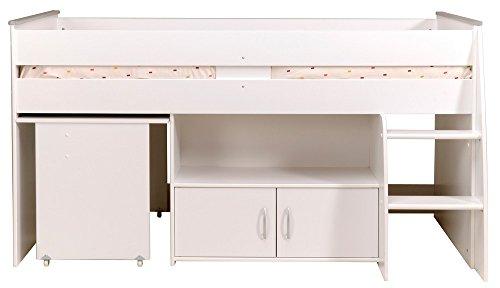 parisot kinderbett hochbett reverse mit schreibtisch wei com forafrica. Black Bedroom Furniture Sets. Home Design Ideas