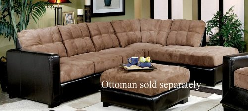 Discount deals chaise sofa sectional two tone microfiber for Cheap sofa packages