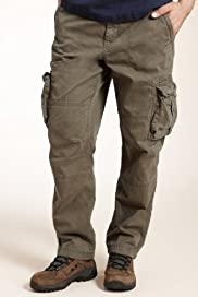 North Coast Pure Cotton Straight Leg Cargo Trousers [T17-8509N-S]