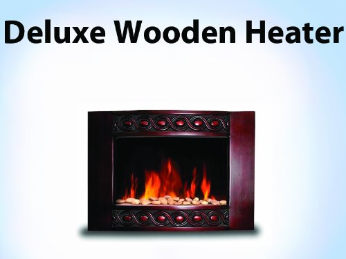 New 1500W Deluxe Wood Wall Mount Electric Fireplace Space Heater 1500 Watts BG04 picture B00GX3AZ1M.jpg