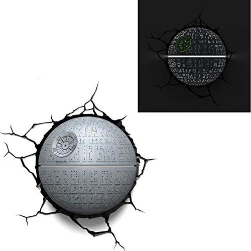 E-concept distribuzione France-PDG00000055-Star Wars-Deco 3D Light-Stella della morte, colore: grigio