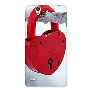 Red Lock Back Case Cover for Sony Xperia C4