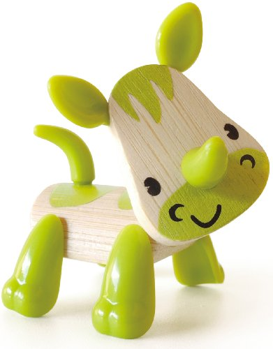 Hape Mini-mals Rhino Bamboo Play Figure