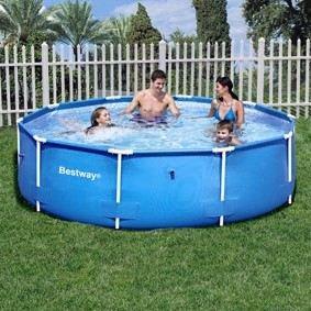 bestway 56026 frame pool stahlrahmenbecken steel pro 305 x 76 cm garten. Black Bedroom Furniture Sets. Home Design Ideas