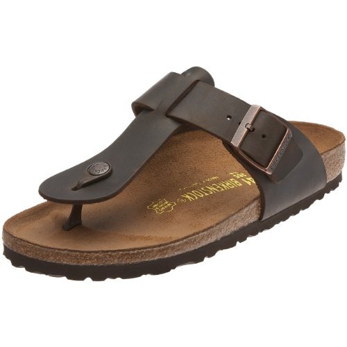Birkenstock Medina Smooth Leather, Style-No. 46013, Unisex Thong Sandals, Turf, EU 41, slim width