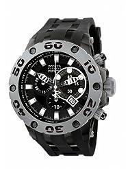Invicta Men's 0912 Subaqua Reserve Chronograph Black Dial Black Polyurethane Watch