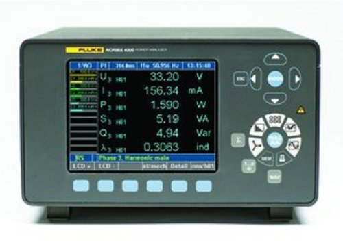 Fluke N4K 1Pp42 Norma 4000 1 Phase High Precision Power Analyzer With Pp42 Channel, 0.2% Accuracy, 0.3V To 1000V, 10 A Current Range