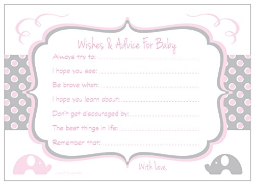 Elephant Baby Shower Wishes and Advice for Baby Cards - Activity/Game (20