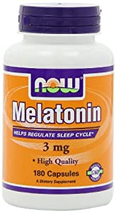 NOW Foods Melatonin 3mg, High Quality, 180 Capsules