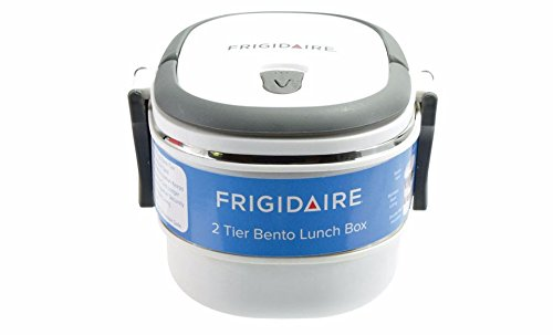Frigidaire 2-Tier Oval Bento Lunch Carrier (Open Front Bread Box compare prices)