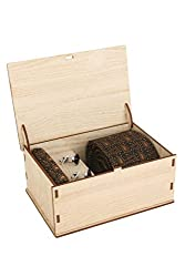 Ellis Men Tie, Cufflink And Pocket Square Gift Set With Wooden Box