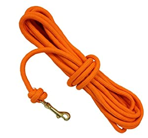D.T. Systems 3/8-Inch Blaze Orange Check Cord for Pets, 30-Feet