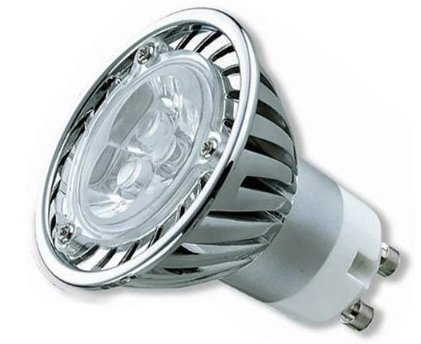 9 X GU10 LED LIGHT BULBS ENERGY SAVING 3W DAY WHITE ** 3x1W HIGH POWER FOR REPLACING 50W HALOGEN **