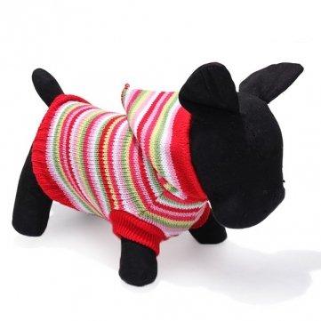 colorato cane banda pet maglia traspirante maglione caldo inverno outwear
