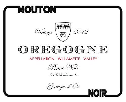 "2012 Mouton Noir ""Oregogne Rouge"" Willamette Valley Pinot Noir 750 Ml"