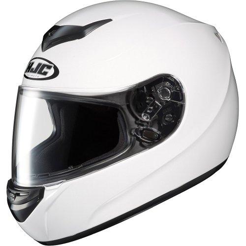 Hjc Solid Men'S Cs-R2 On-Road Motorcycle Helmet - White / Medium