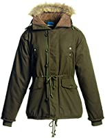 iLoveSIA Mens Winter Thicken Faux Fur Lined Warm Coat Parka Hooded With Trim Fur