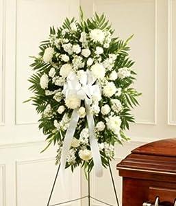 Flowers - White Sympathy Standing Spray