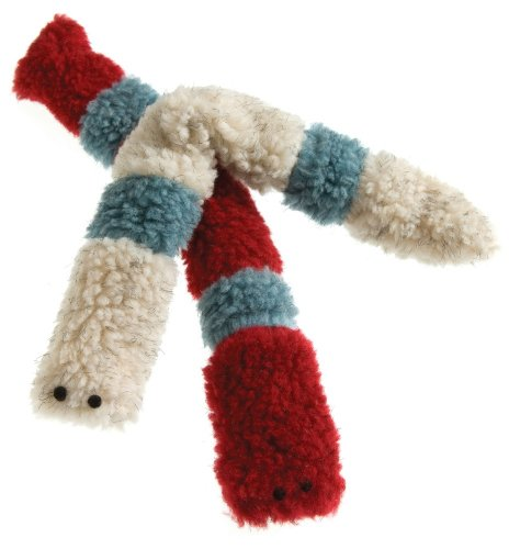 West Paw Design Caterpillar Catnip-Filled Cat Toy with Bell, Cardinal