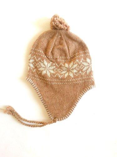 Norweger Winter Set 3- teilig für Damen bestehend aus 1 Paar Handschuhe und einer Mütze - erhältlich in 10 Farben (hellbraun)