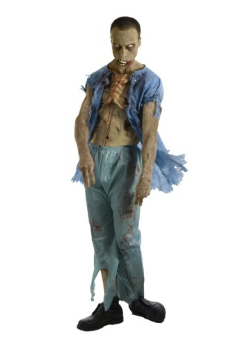 [The Walking Dead TV Show Zombie Patient Costume with Molded Wound, Multicolored, Standard] (Tv Show Costumes For Men)