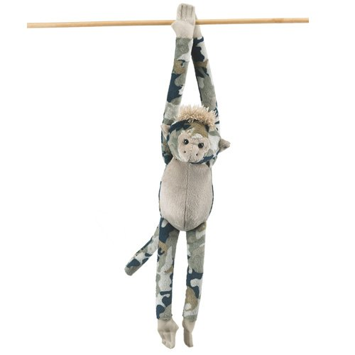 Wildlife Artists Camo Wild Zoo Monkey In A Unique Animal Camo Zoo Plush Stuffed Animal In Blue And Green front-335659
