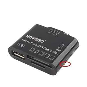 5 en 1 Connection Kit port USB lecteur multi cartes de mémoires SD (HC), Mini SD, MS Duo, MMC, M2,pour Galaxy Tab 7.7, Galaxy Tab 8.9, Galaxy Tab 10.1 P6200 P6210 P6800 P6810 P7100 P7110 P7300 P7310 P7500 P7510 P7501 P7511 P5100 P5110,Samsung P3100 Galaxy Tab 2 7.0,Samsung N8000 Galaxy Note 10.1