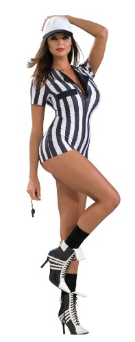 Secret Wishes Women's Sexy Referee Costume Romper
