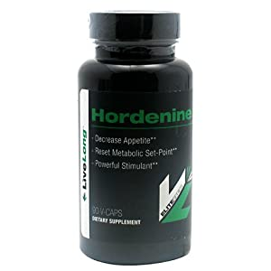 LiveLong Nutrition Hordenine Capsules, 90 Count