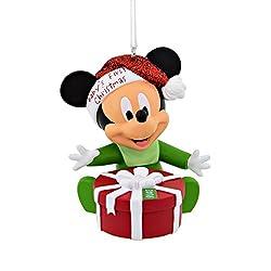Hallmark 2016 Disney Mickey Mouse Baby's 1st Christmas...