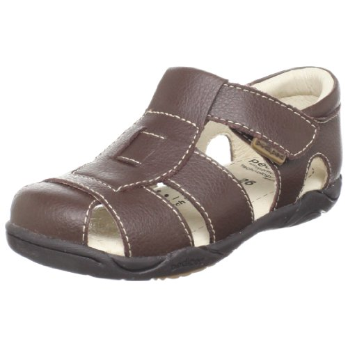 Pediped Flex Sydney Sandal (Toddler/Little Kid),Chocolate Brown,24 Eu (7.5-8 M Us Toddler)