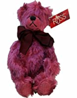 Russ Berrie Bears From the Past Quigley Bear Plush Toy Raspberry Pink by Russ Berrie