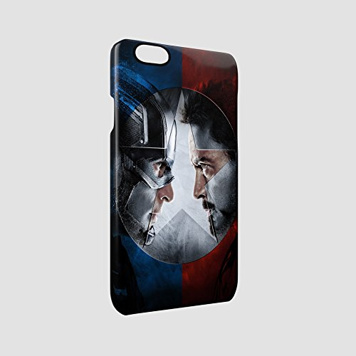 Captain America Civil War Head To Head Glossy Hard Snap-On Protective iPhone 6 / iPhone 6s Case Cover