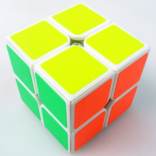 1 X New Yj Moyu Lingpo 2x2x2 Speed Cube Puzzle Smooth 2x2 White - 1