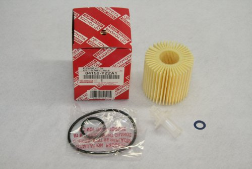 Toyota Genuine Parts 04152-YZZA1 Oil Filter and 90430-12028 Oil Drain Plug Gasket Oil Change Kit (Toyota Oil Filter Kit compare prices)