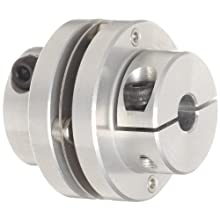 Boston Gear FC123/8 Shaft Coupling Half, FC12 Coupling Size, 0.375 inches Bore, 27/32 Thru Bore Length, 1.000 inches Hub Diameter, 3 Max HP at 1750 RPM, 125 Max Torque (LB-IN), Steel