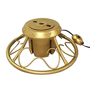 #!Cheap Heavy Duty Fancy Gold Metal Rotating Artificial Christmas Tree Stand