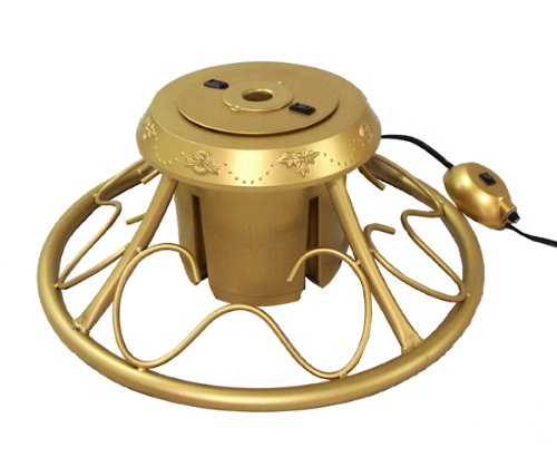 Heavy Duty Fancy Gold Metal Rotating Artificial