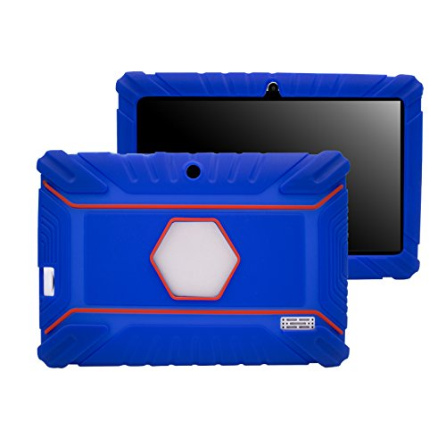 Transwon 7 Inch Case Anti Slip Cover for Vuru A33, NPOLE Tablet 16G 1G IPS 7 Inch, Dragon Touch Y88X Plus 7, Alldaymall A88X, NeuTab N7s Pro 7, Tagital 7 T7K, Chromo Inc 7 Inch Tablet - Navy Blue (Chromo Inc 7 Inch Tablet Charger compare prices)