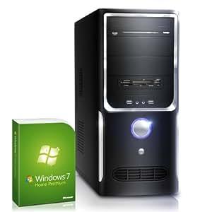 CSL Unité Centrale Sprint F10008H comp. Windows 7 - AMD A8-6600K 4x 3900 MHz, RAM 8Go, HDD 1000Go, Radeon HD 8570D, graveur de DVD, Gigabit LAN