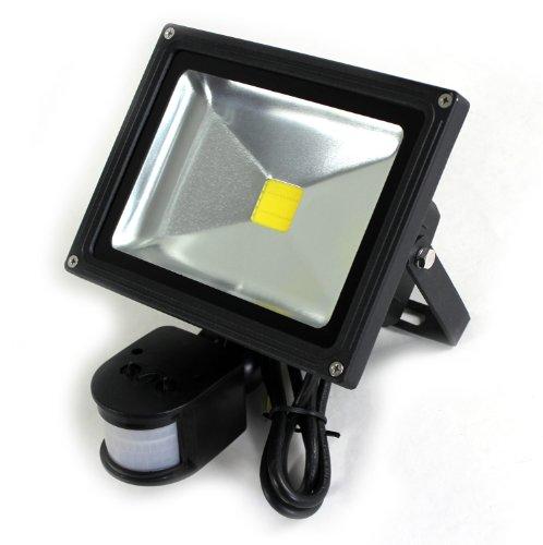 lux.pro® 10W LED SMD FLUTER + BEWEGUNGSMELDER OBJEKTBELEUCHTUNG STRAHLER - Lichtfarbe WEISS