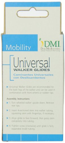 Healthsmart Universal Walker Ski Glides Package Of 2