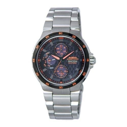 [リコー]RICOH 腕時計 SHREWD AMBITION(シュルード・アンビション) ソーラー充電式 アナログ表示 曜日・日付表示 ジール・オレンジ 759002-31 メンズ