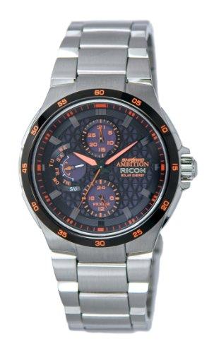 Ricoh Men'S Watch Shrewd Ambition Solar Tech Analogueorange 759002-31