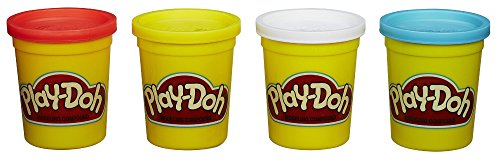 Play-Doh 4-Pack of Colors 20oz - Red, Yellow, White & Blue - 1