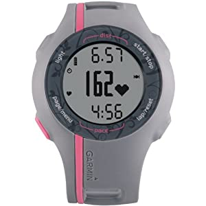 Garmin Forerunner 110W GPS enabled Sports Watch with HRM (Pink)