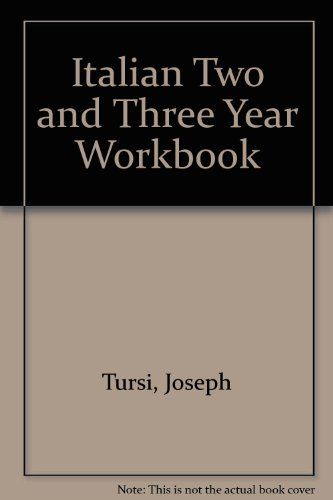Italian Two and Three Year Workbook
