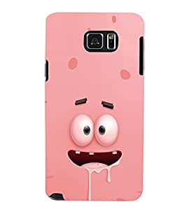 EPICCASE Cartoon face cover Mobile Back Case Cover For Samsung Galaxy Note 5 (Designer Case)