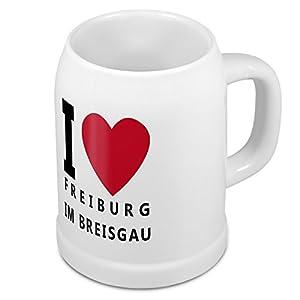 Bierkrug mit Stadtnamen Freiburg im Breisgau - Design stilvollem I Love Freiburg im Breisgau - Städte-Tasse, Becher, Maßkrug