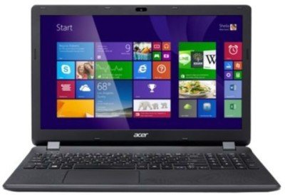 Acer Aspire E Series ES1 512 UN.MRWSI.005 PQC  4th Gen     4   GB DDR3/500   GB HDD/Windows 8.1  Notebook 15.5 inch, Charcoal Grey  available at Amazon for Rs.27590